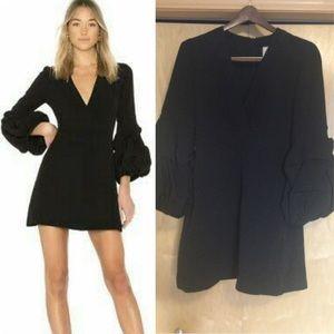Alexis Black V -Neck Mini dress